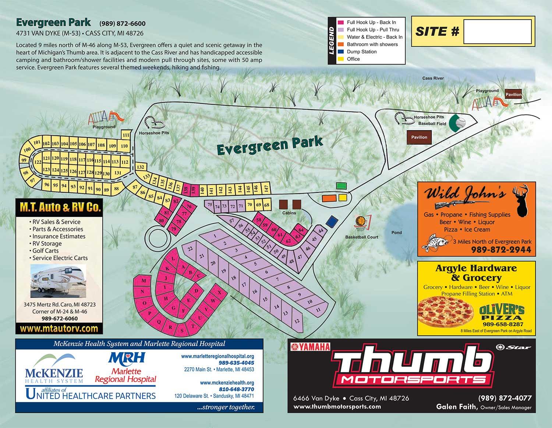 Michigan sanilac county lexington -  Events Directions Park Map